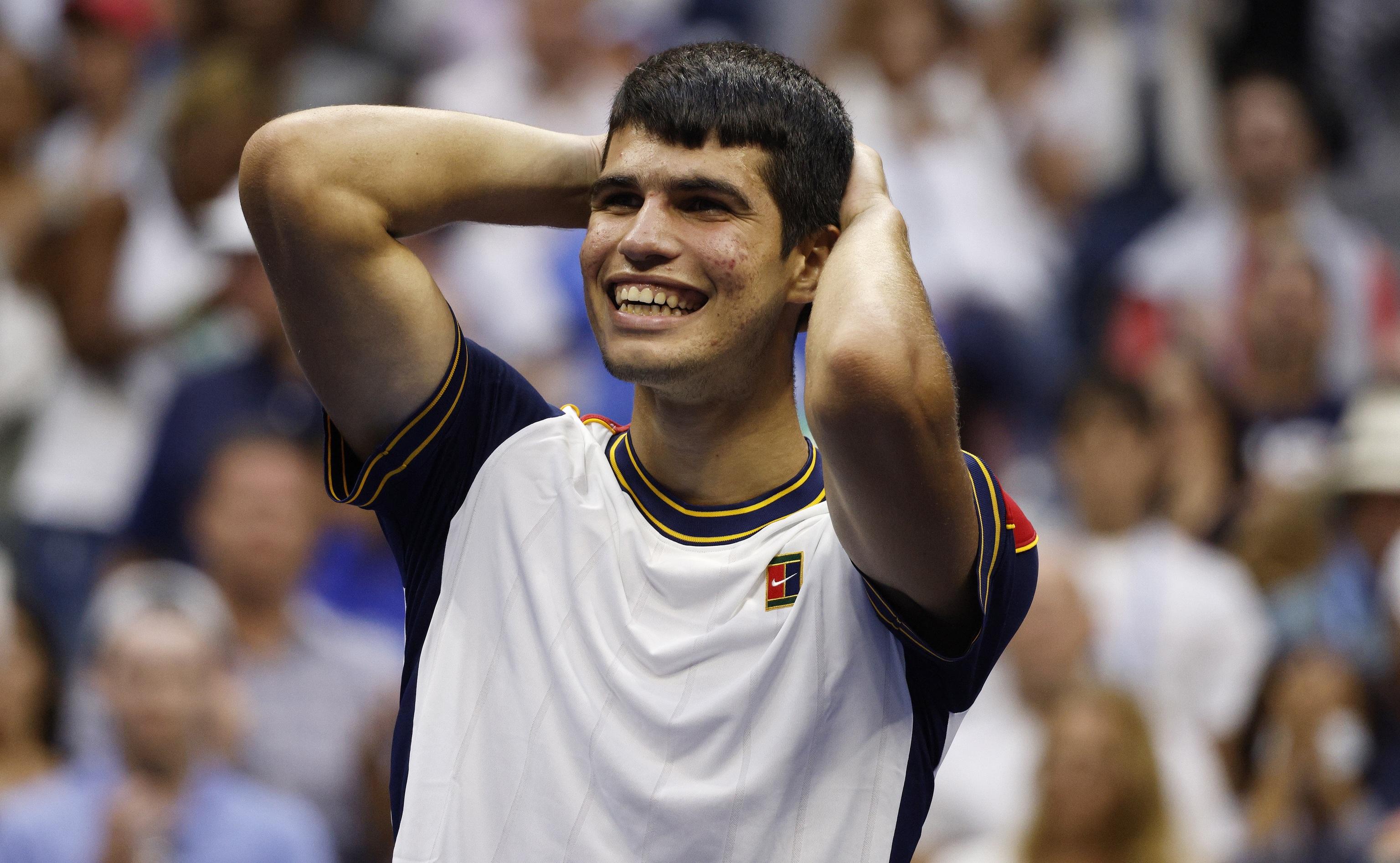 Carlos Alcaraz, tras su victoria en el US Open.