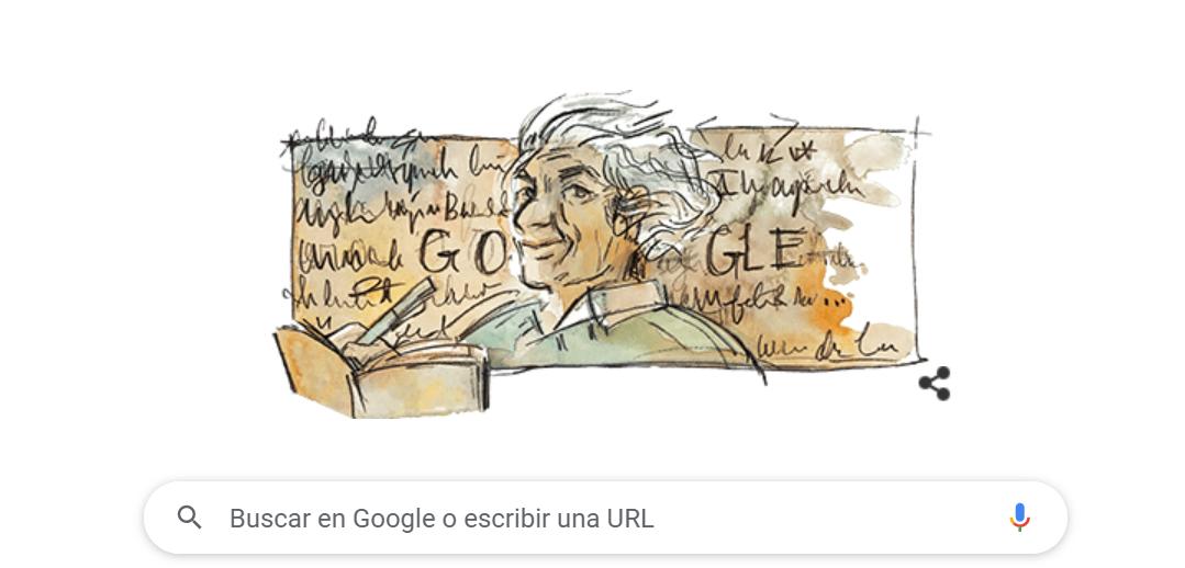 Google conmemora el nacimiento de Nicanor Parra, el poeta de la Antipoesía, con su tradicional doodle