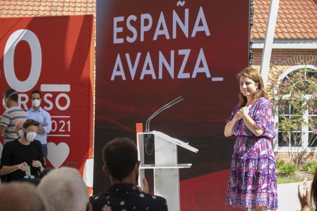 Adriana Lastra, en un acto ayer en Madrid.