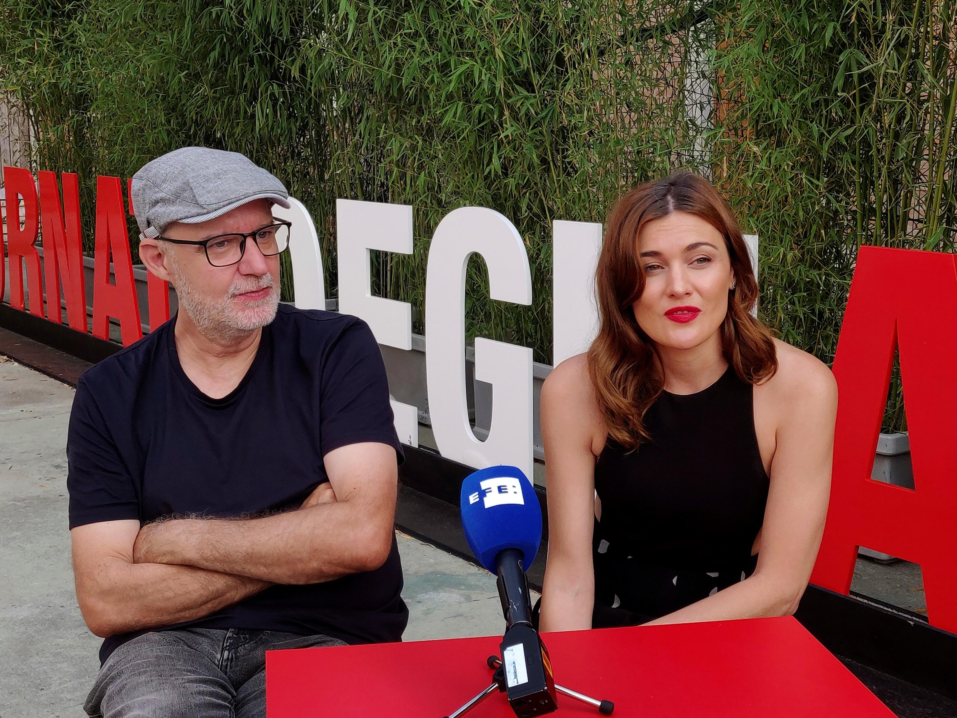 """Juanjo Giménez y Marta Nieto, director y protagonista de """"Tres"""", presentada el domingo en la sección paralela del Festival de Venecia."""
