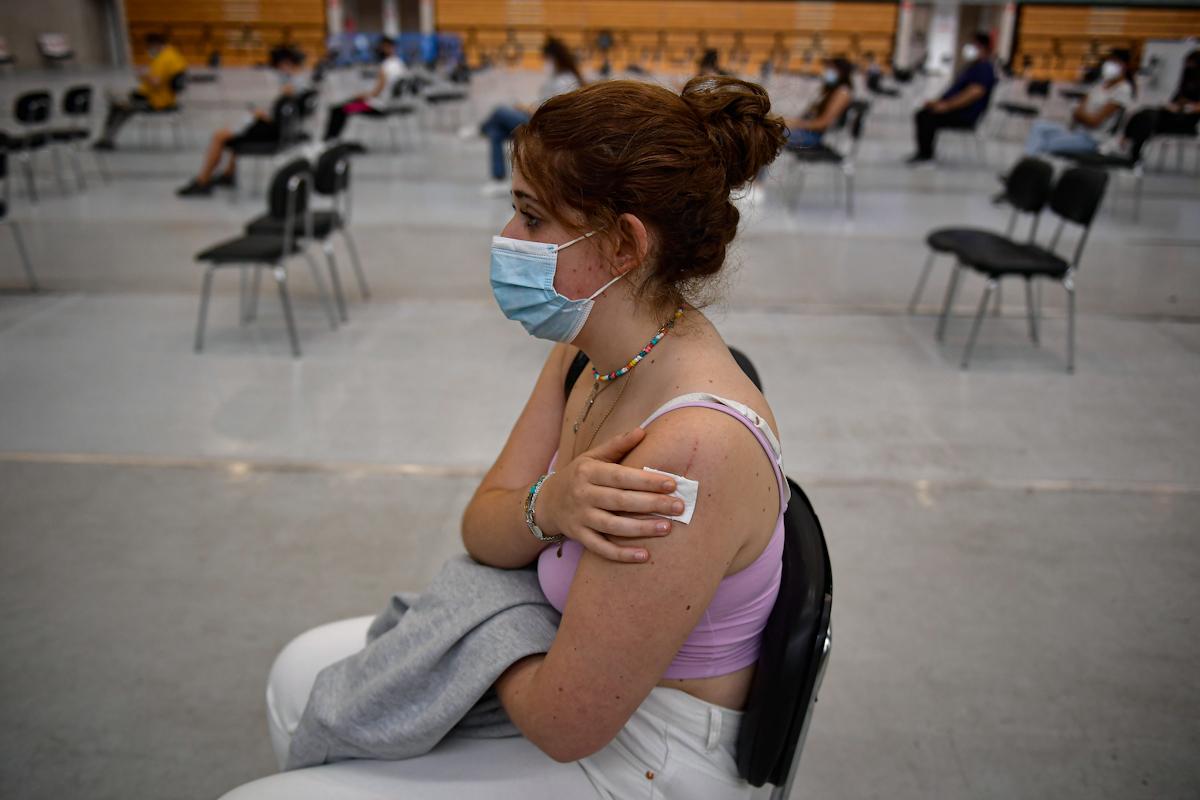 Vacunación de jóvenes en Pamplona.
