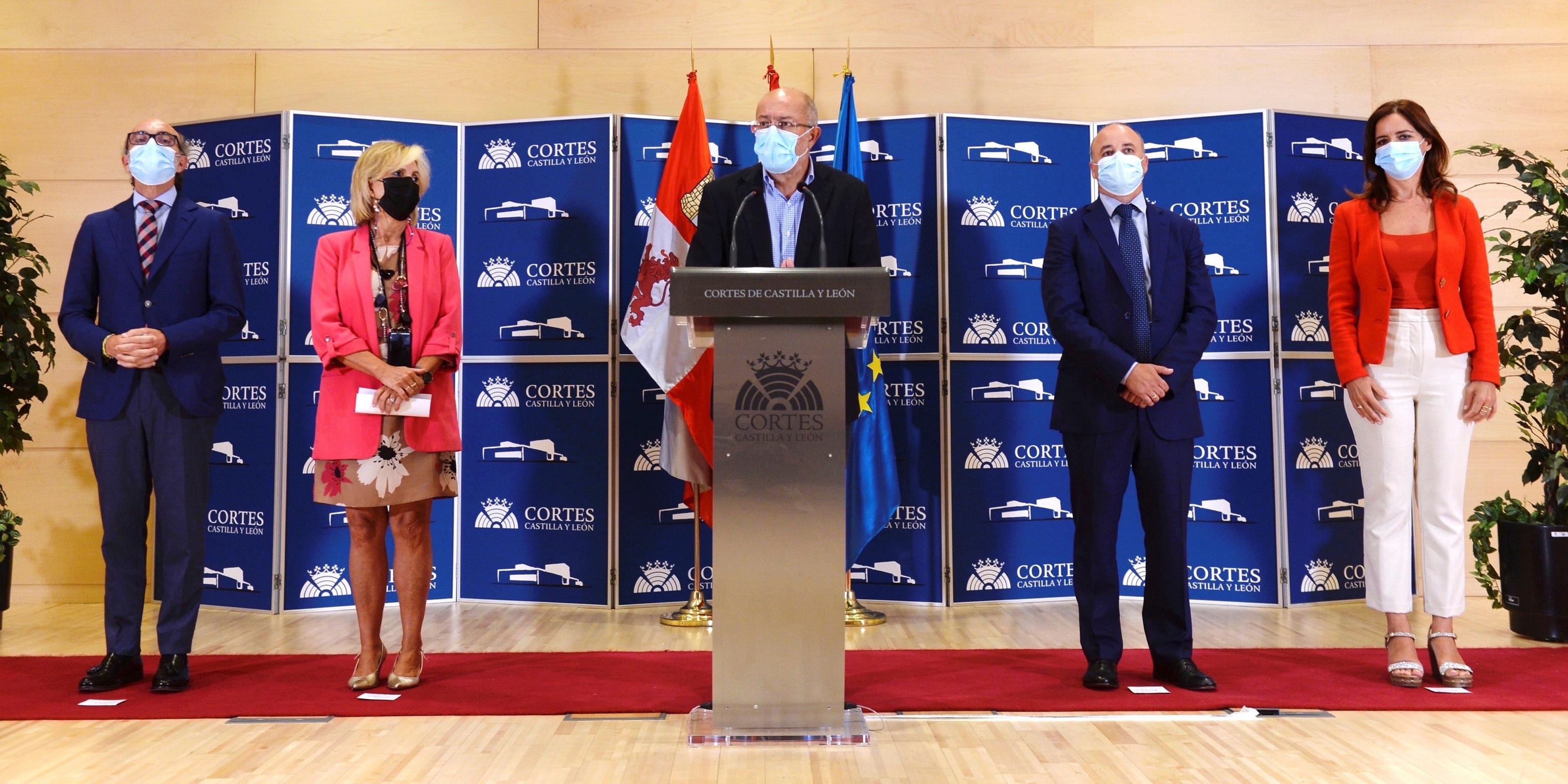 El vicepresidente de Castilla y León, Francisco Igea, en rueda de prensa.