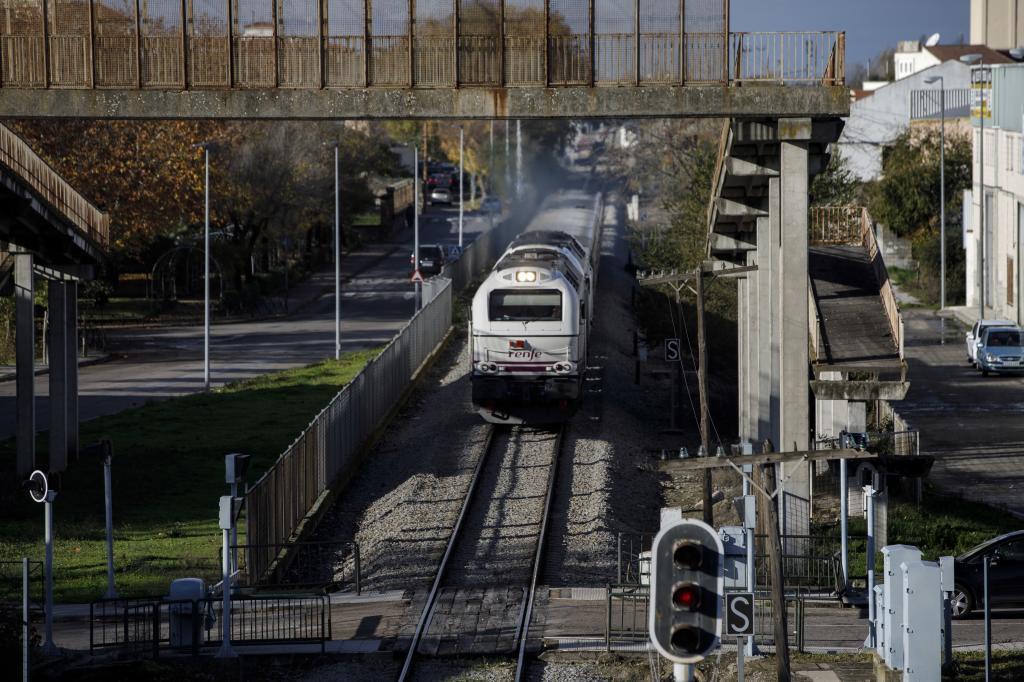 Tren de Renfe en las vías cercanas a Navalmoral de la Mata (Cáceres).