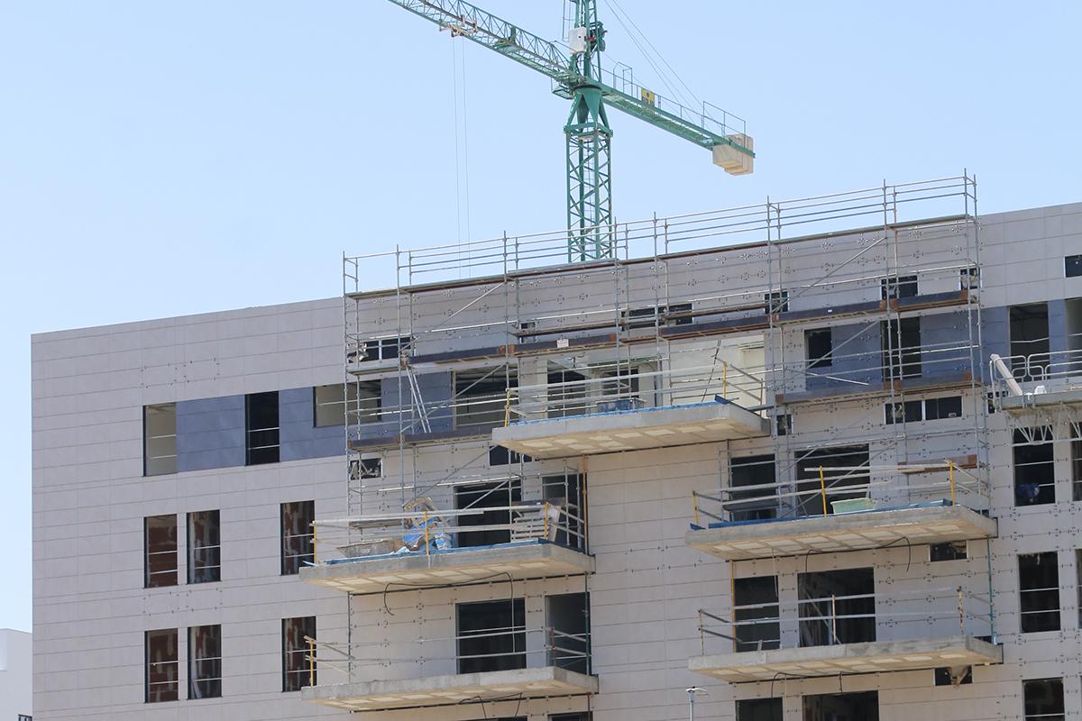 Viviendas en construcción en la provincia de Castellón.