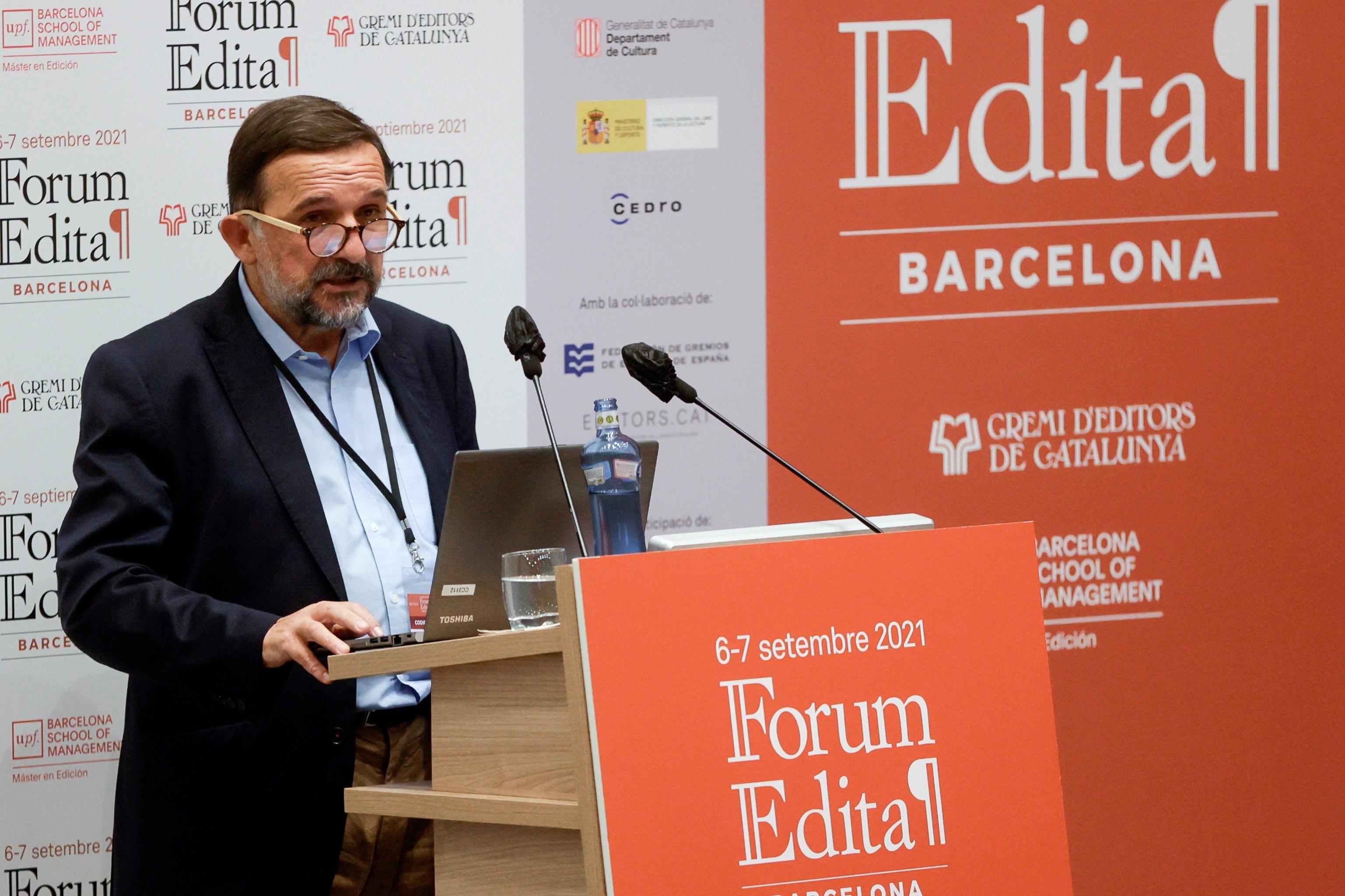 El escritor y codirector del Fórum Edita, Sergio Vila-Sanjuan, este martes en Barcelona.