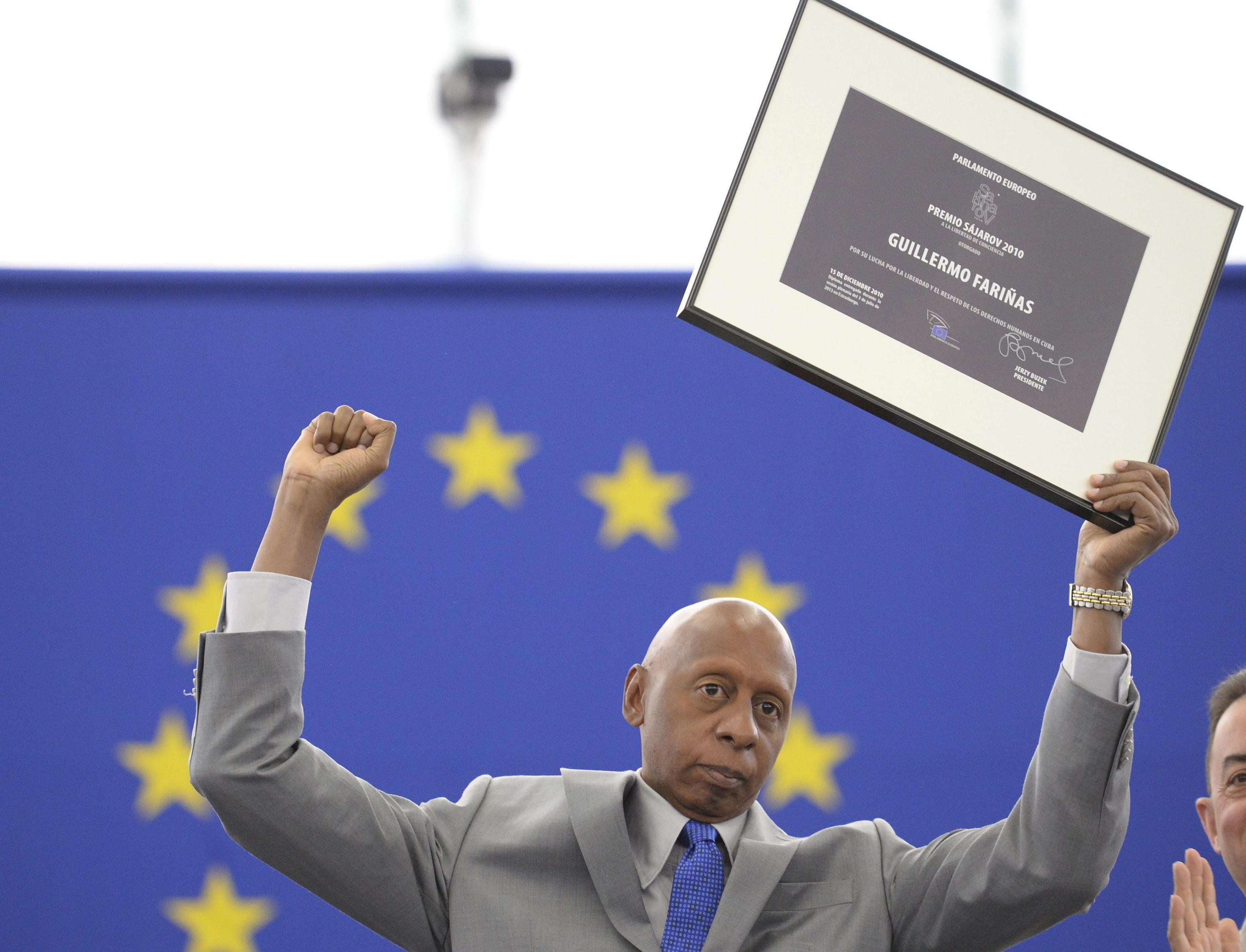 El opositor cubano Guillermo Fariñas, en 2013.