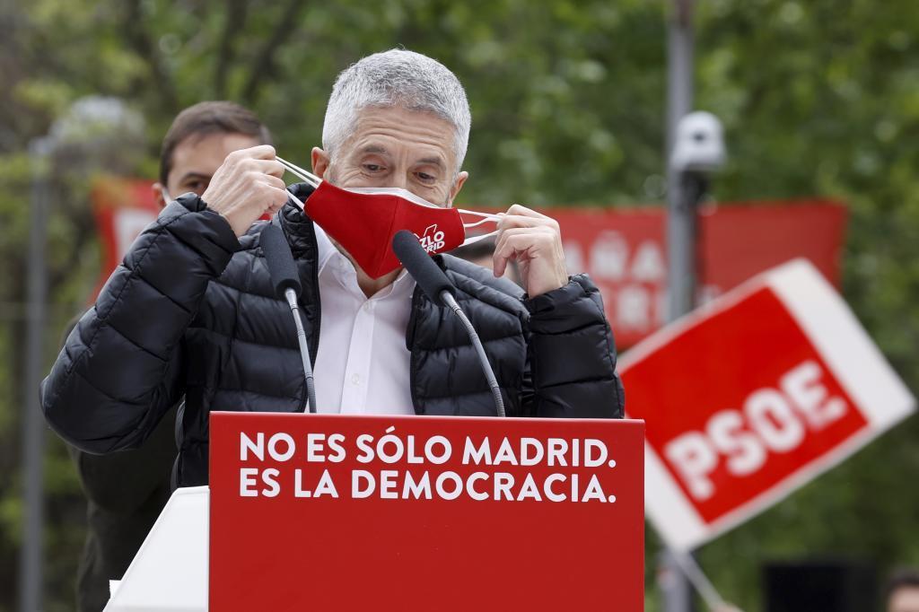 Grande-Marlaska, en un acto electoral del PSOE.