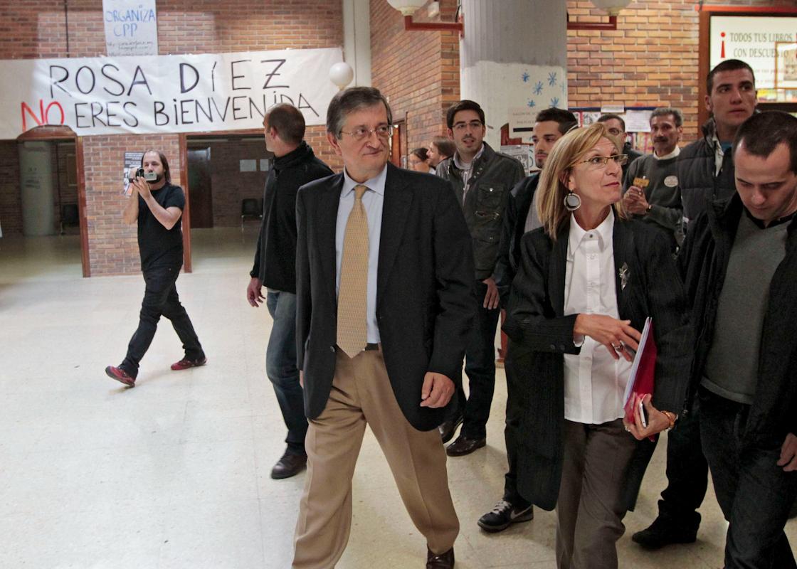 Rosa Díez, en la Facultad de Políticas.(2010).