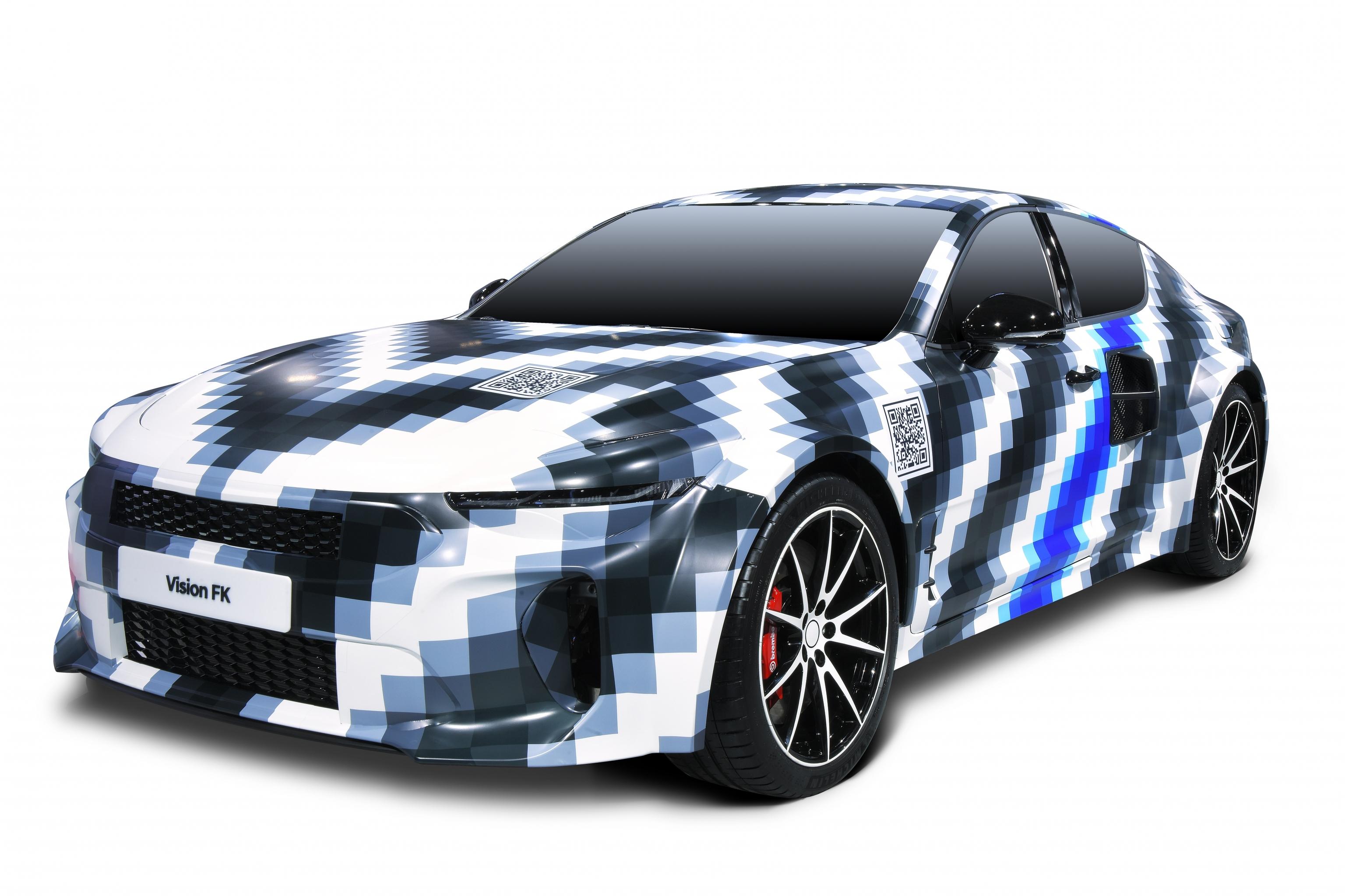 El Vision FK es el prototipo de un deportivo de hidrógeno 'enchufable' con 500 kW (670 CV) de potencia máxima.