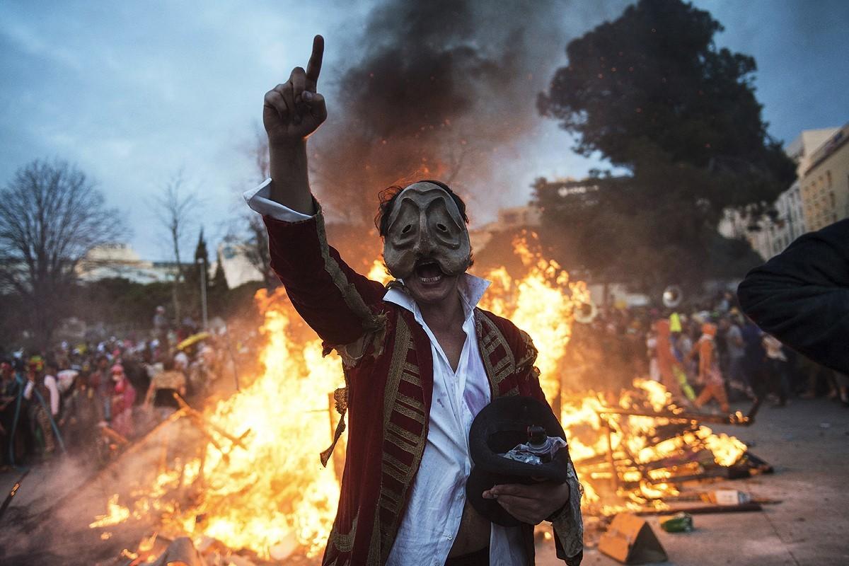 Un protagonista de las protestas de 2019.