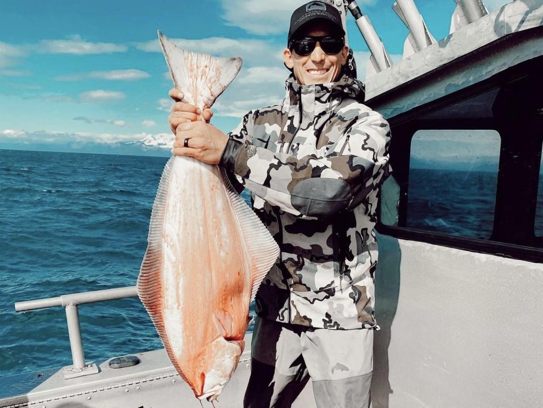 Carroll, en un día de pesca en Alaska este verano.