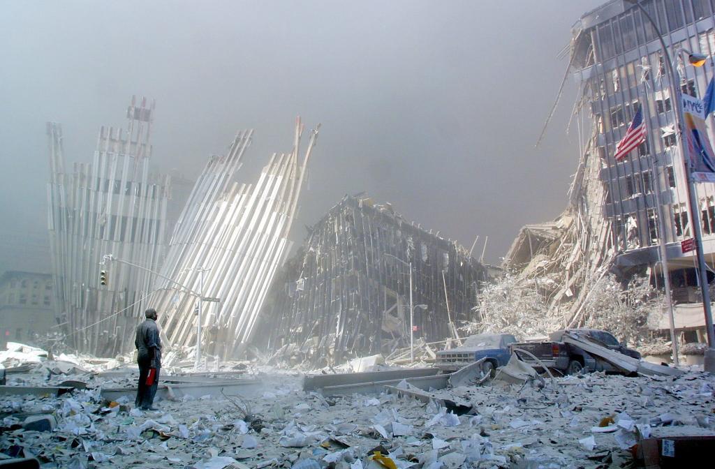Estado en que quedó la Zona Cero de Nueva York tras el atentado del 11-S de 2001.