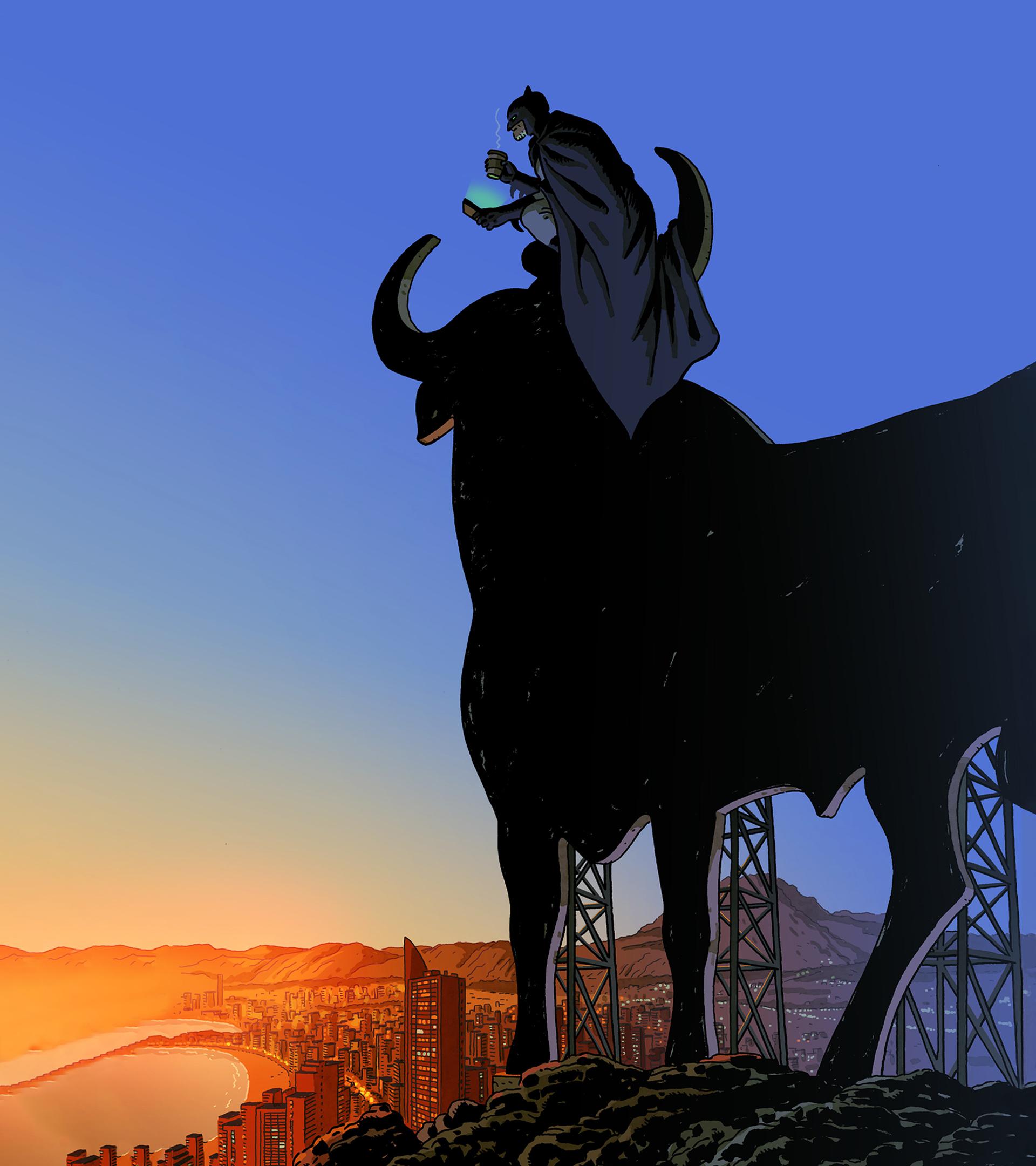 Portada de Paco Roca con Batman en Benidorm.