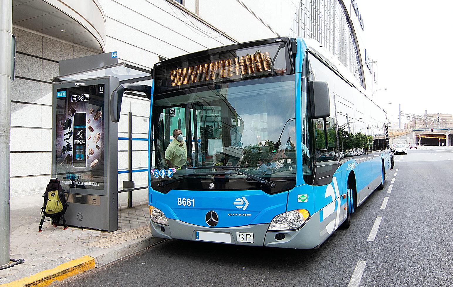 Autobús de la flota de la EMT en Madrid.