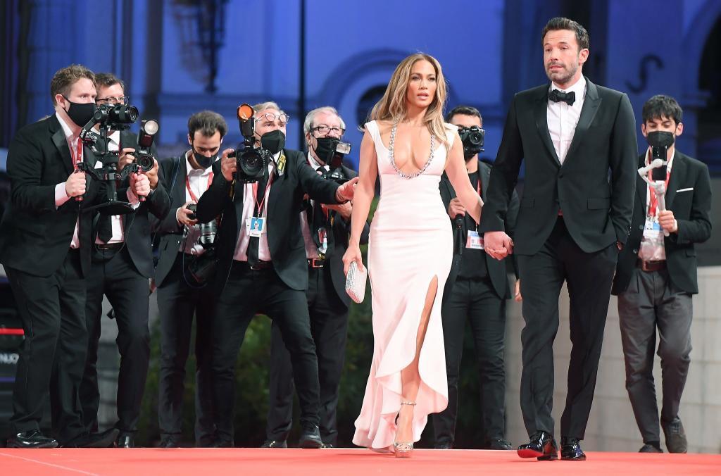 Ben Affleck y Jennifer Lopez en el Festival de Venecia