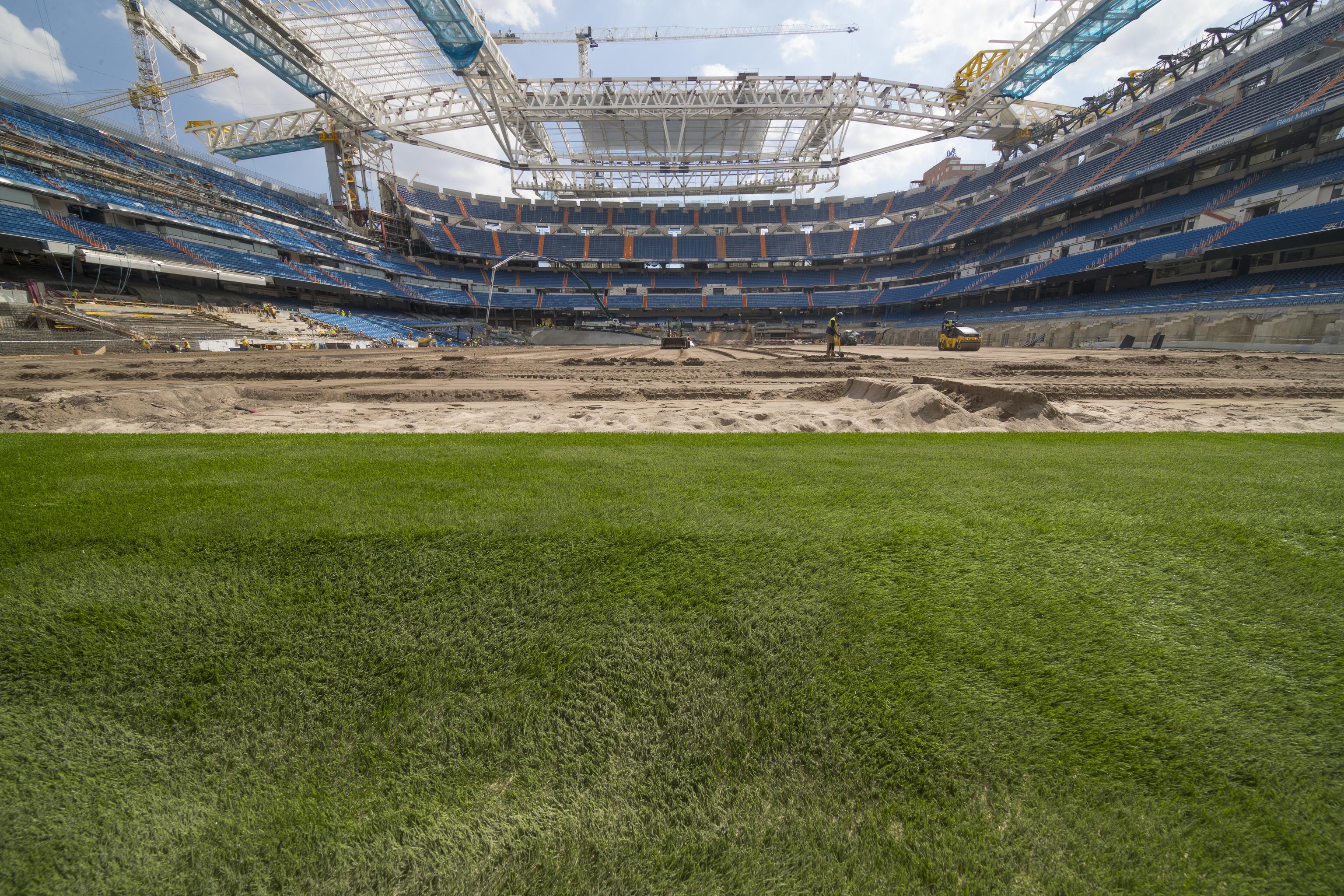 Estadio Santiago Bernabéu, esta semana.