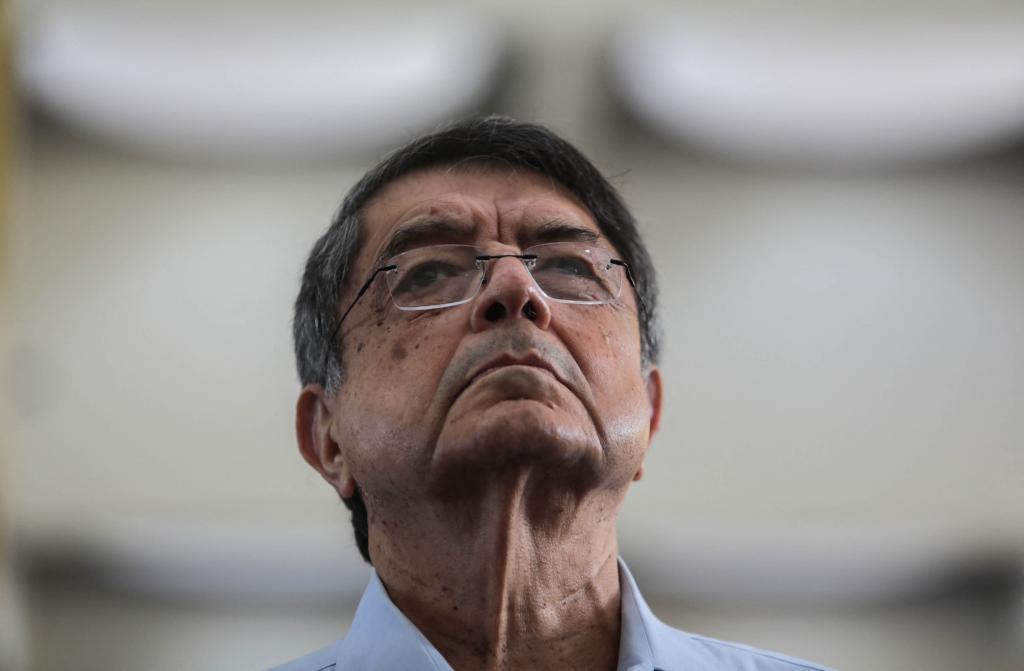 Sergio Ramírez, en el funeral de Ernesto Cardenal, en Managua, en 2020.