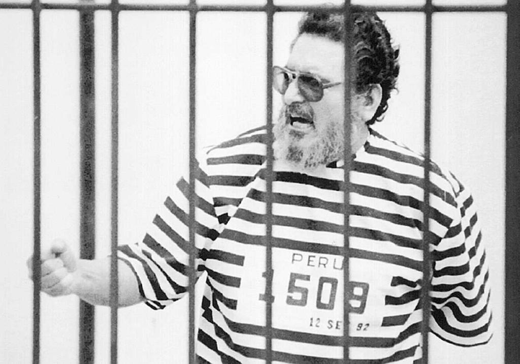 El líder de Sendero Luminos, Abimael Guzmán, tras su detención en 1992.