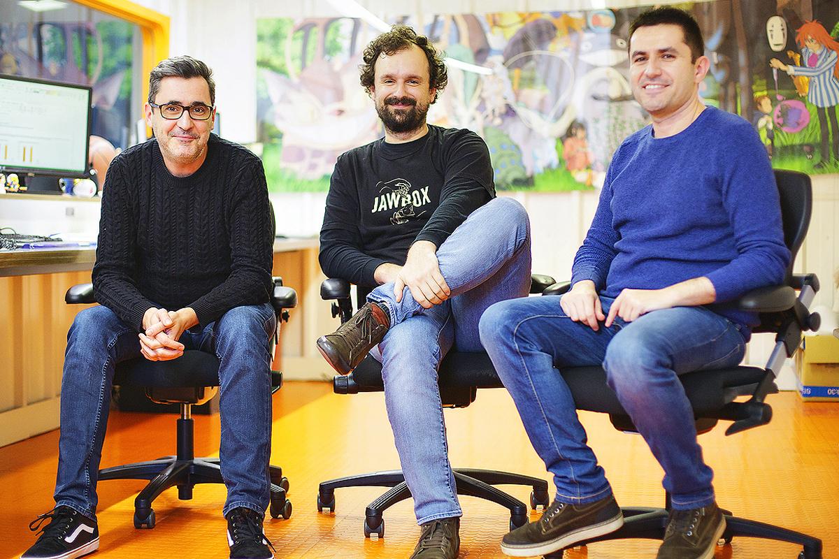 Alberto de la Morena, Paulo Rodríguez y Carlos Suárez.