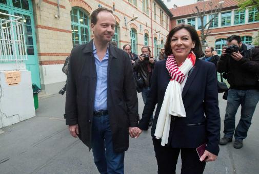Anne Hidalgo el día en fue elegida alcaldesa de París (2014).
