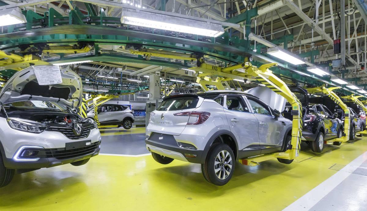 La línea de producción del Captur en la planta de Valladolid.
