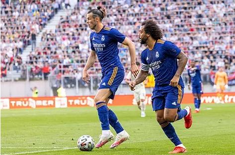 Bale, durante un partido con el Madrid