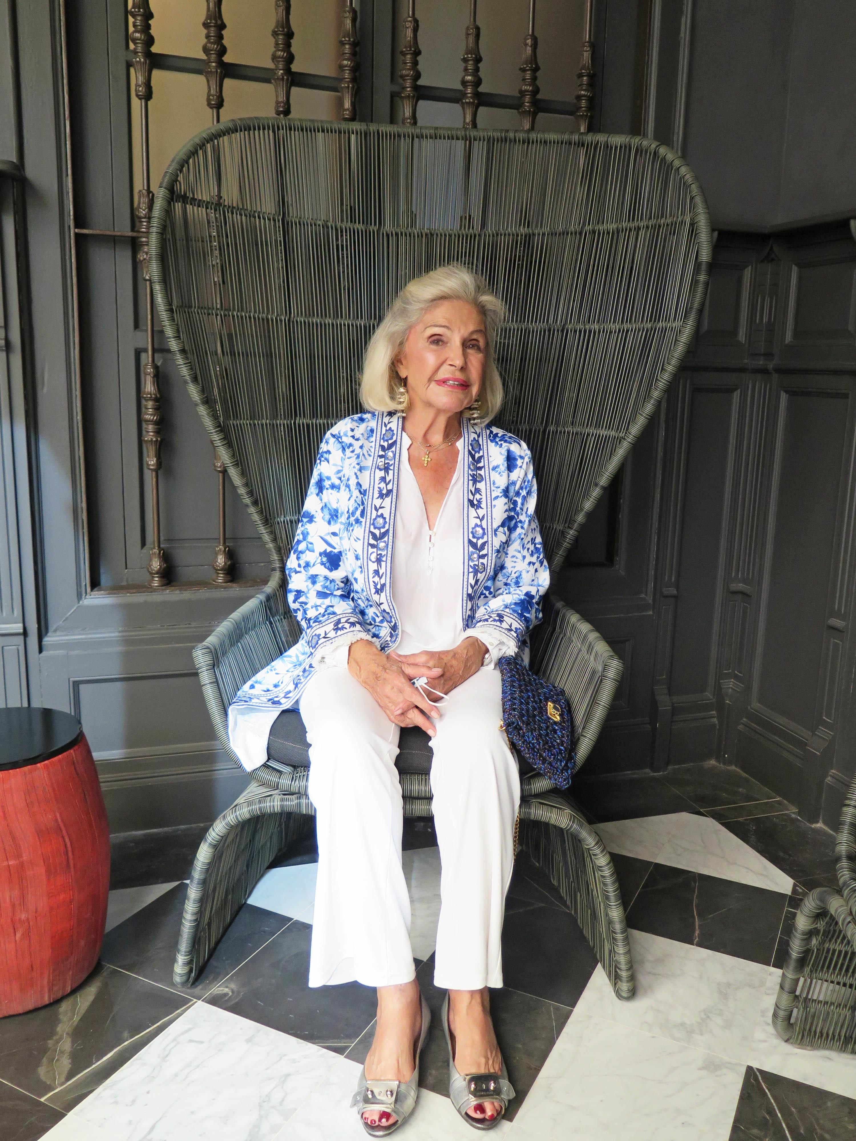 Béatrice d'Orléans, este 2021, en el evento organizado por Luxury Spain.