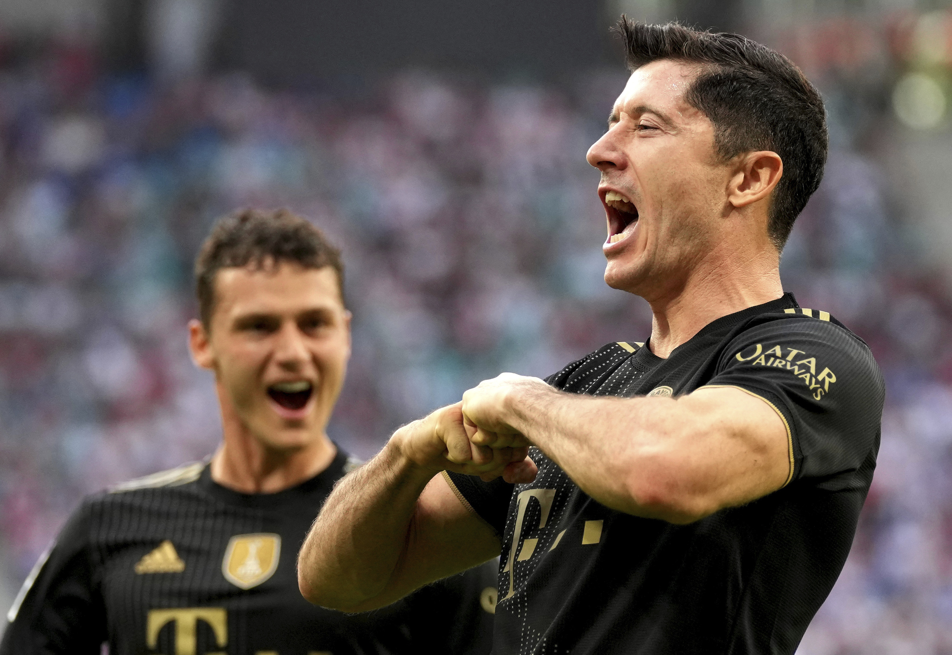 Lewandowski celebra un gol el pasado fin de semana.