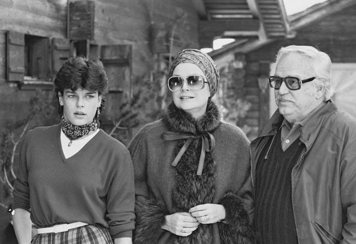 Grace y Raniero junto a su hija pequeña, Estefanía, unos meses antes el fatal accidente.