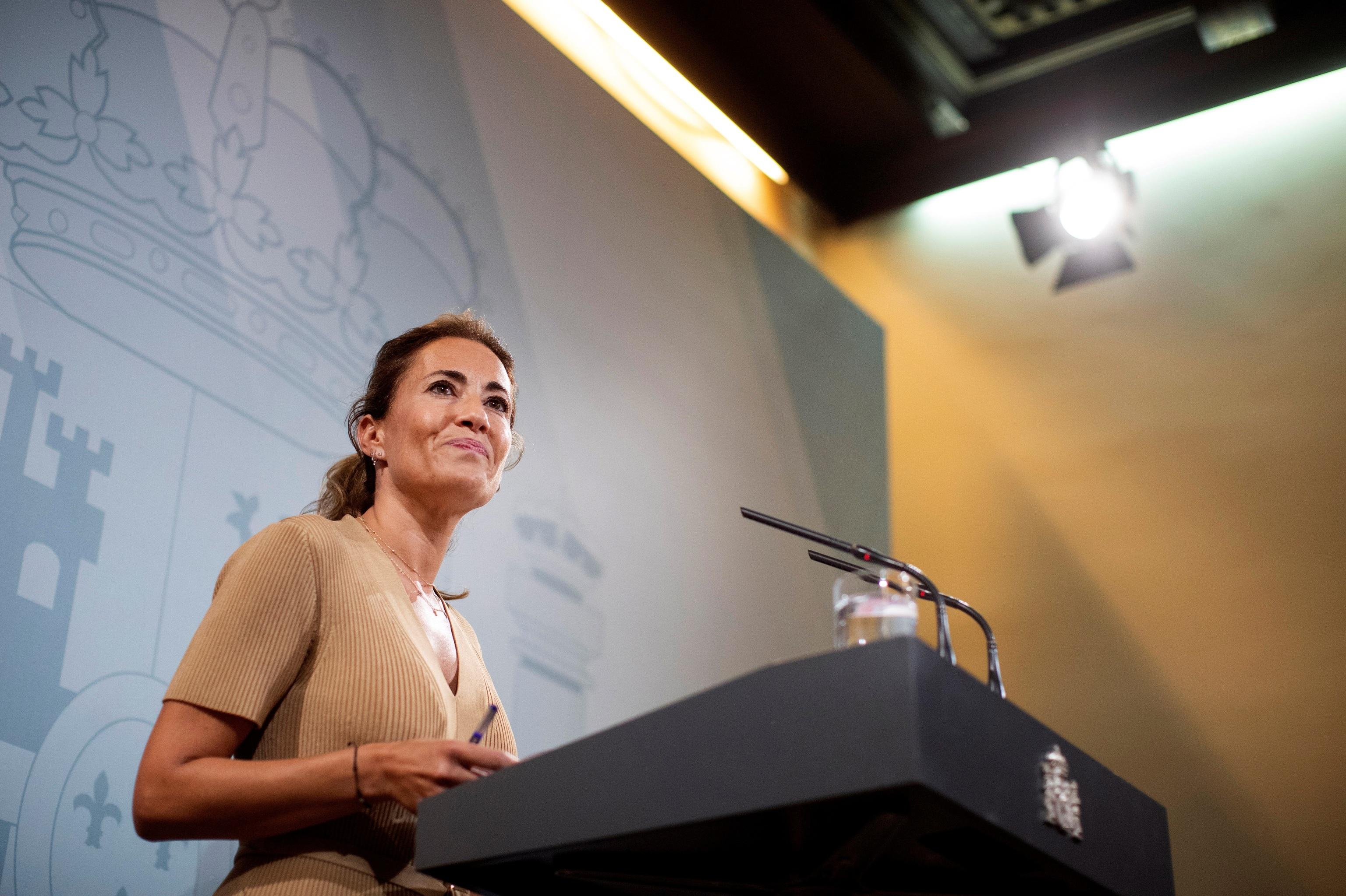La ministra de Transportes, Raquel Sánchez, la semana pasada en Barcelona.
