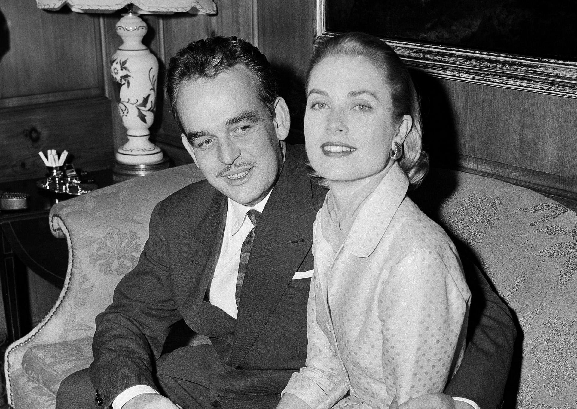Rainiero y Grace Kelly en 1956.