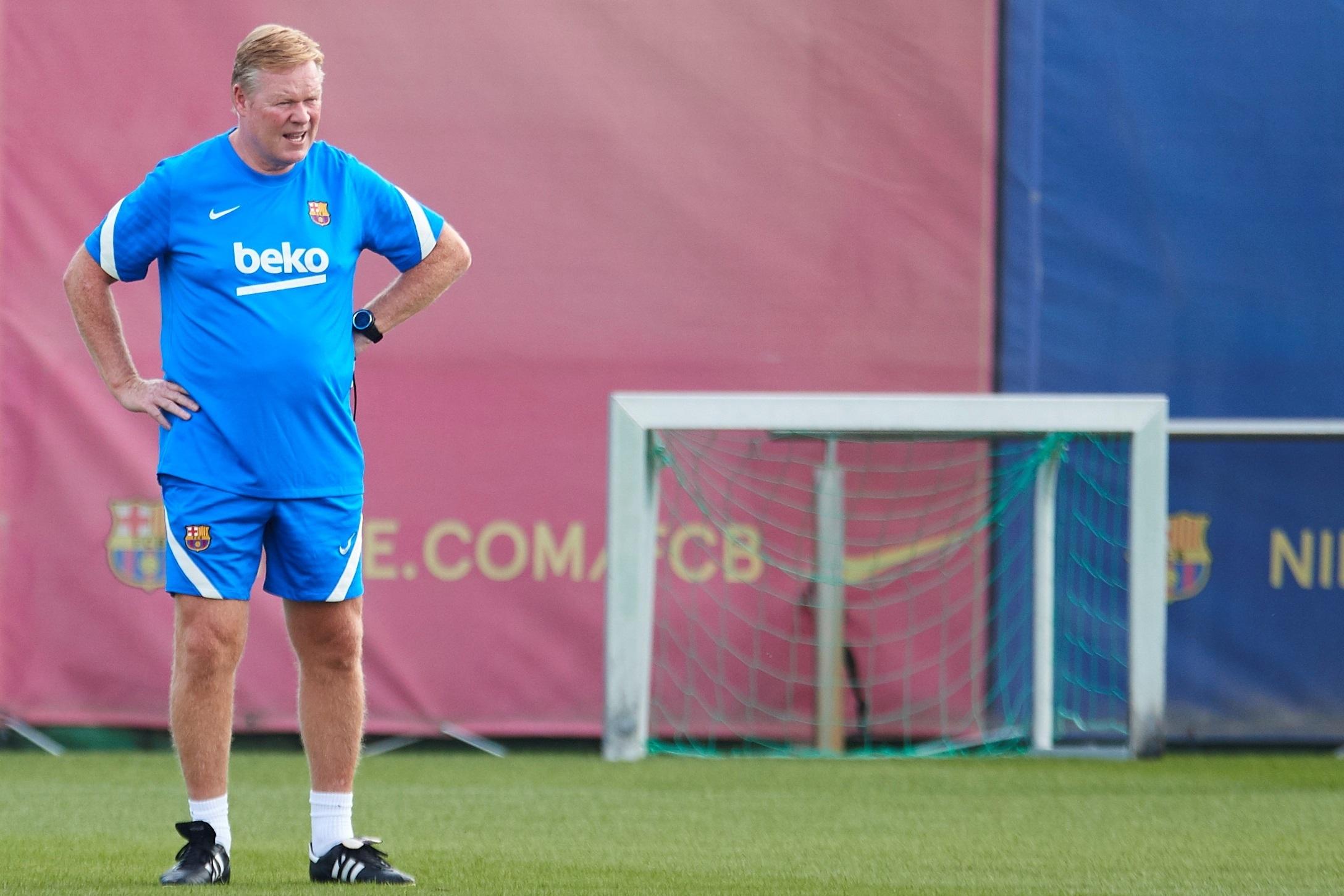 Ronald Koeman, entrenador del Barcelona.