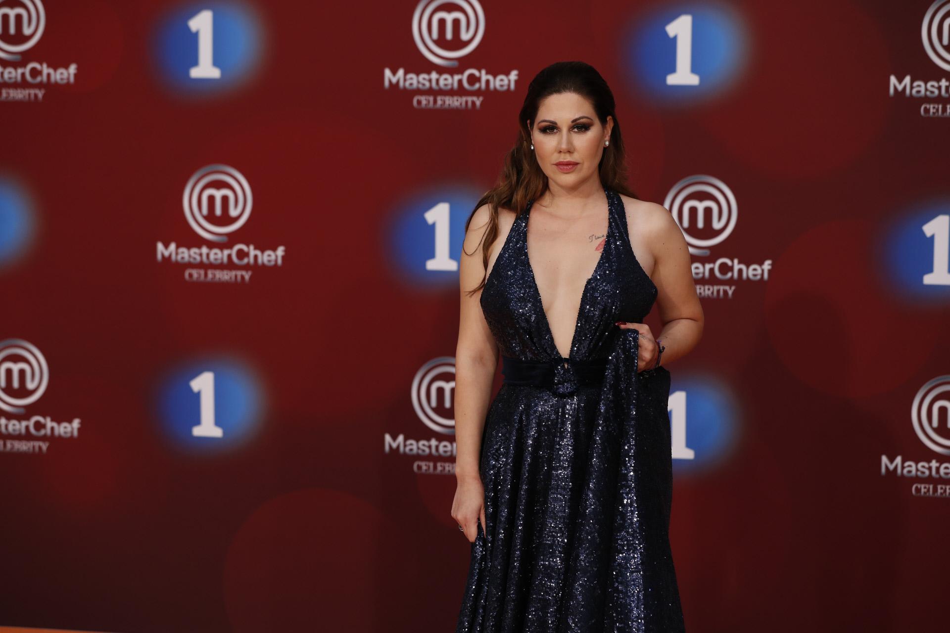 Tamara, en la presentación de Masterchefcelebrity en el Festival de TV de Vitoria.
