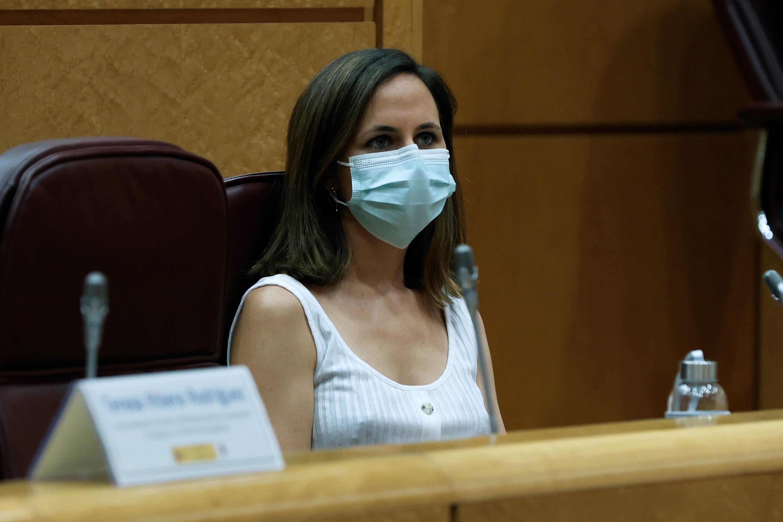 La ministra de Derechos Sociales, Ione Belarra, en una comparecencia reciente.