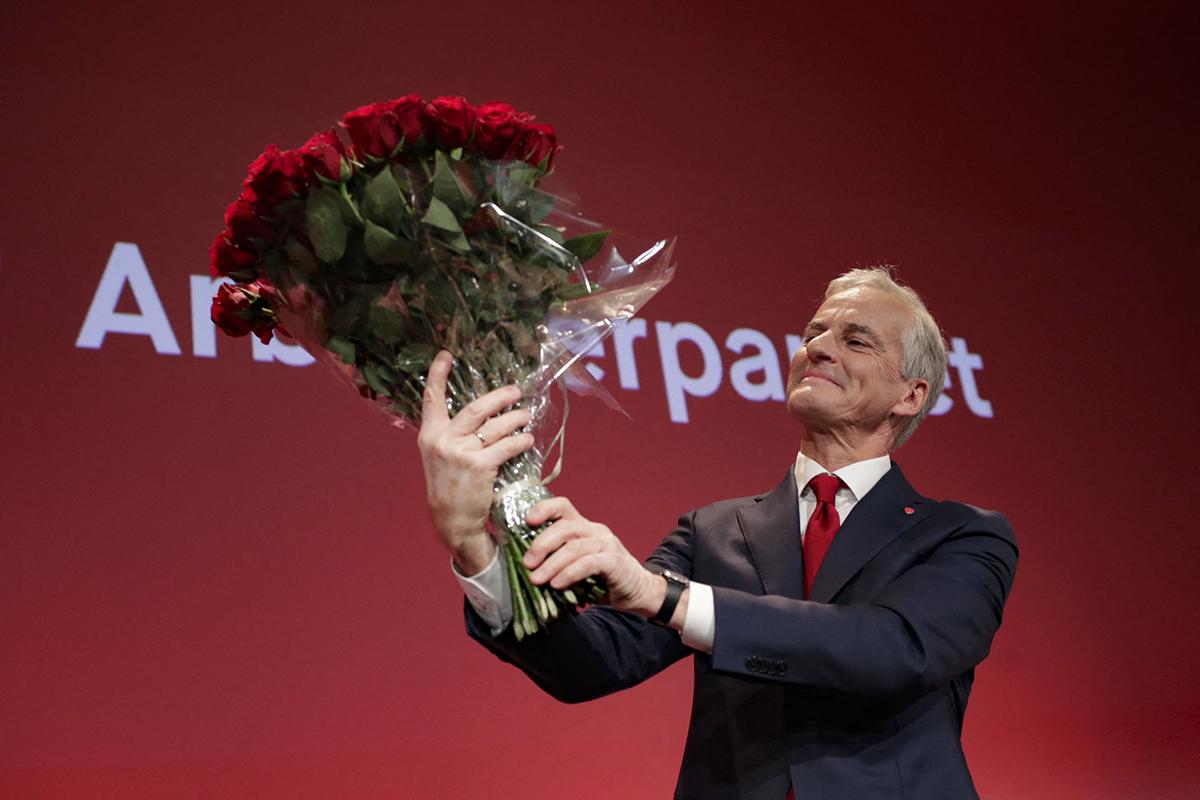 El laborista Jonas Gahr Store, ganador de las elecciones noruegas.