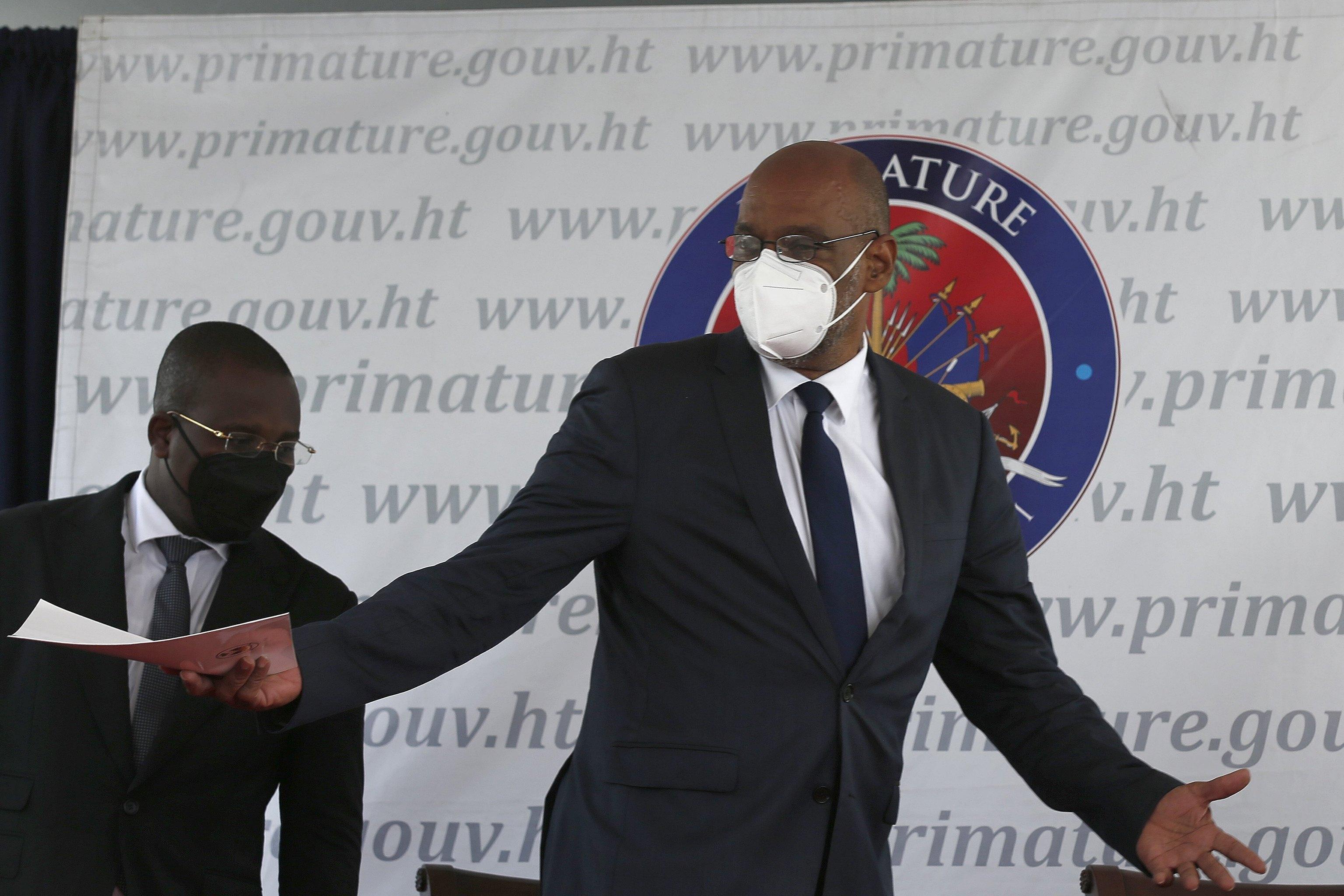 El primer ministro haitiano, Ariel Henry.