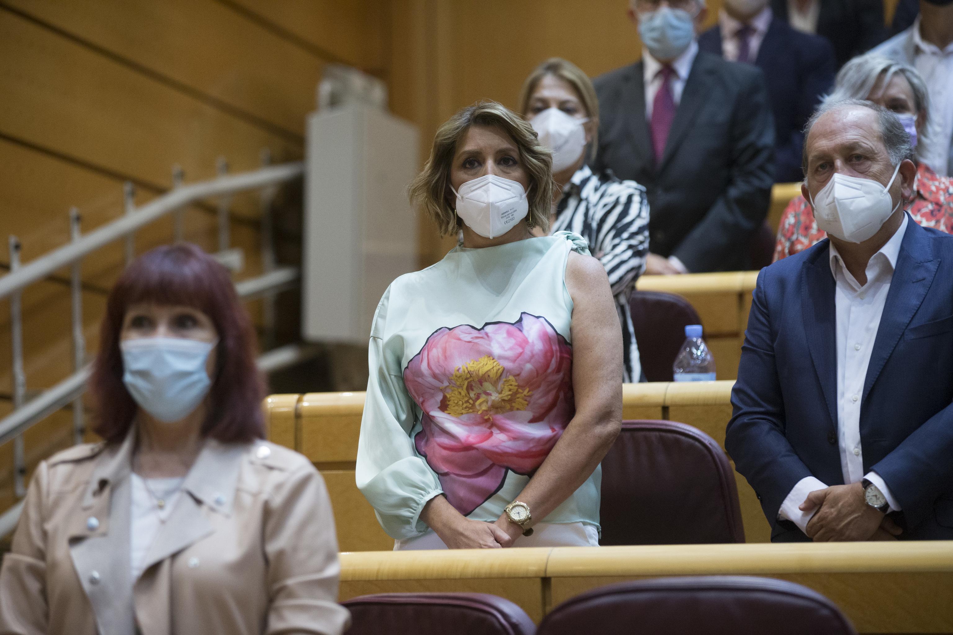 Susana Díaz, en su primer día en el Senado.