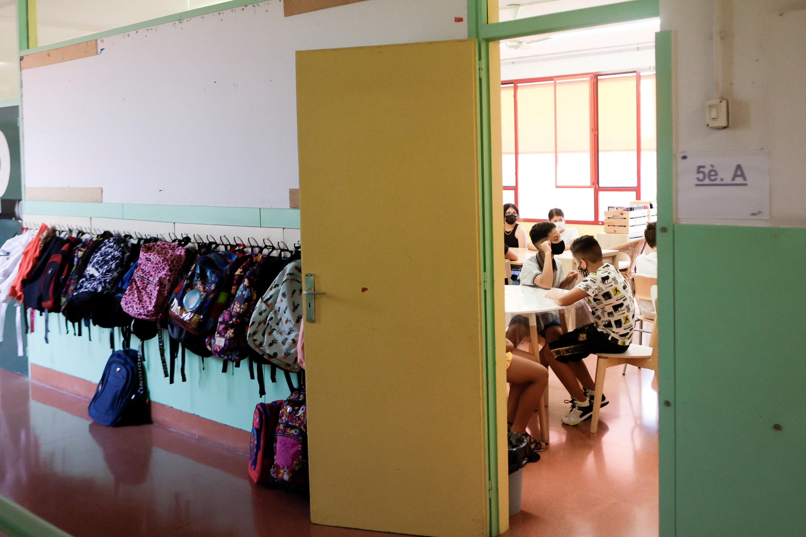 Alumnos del Institut  Escola Mirades de Barcelona.