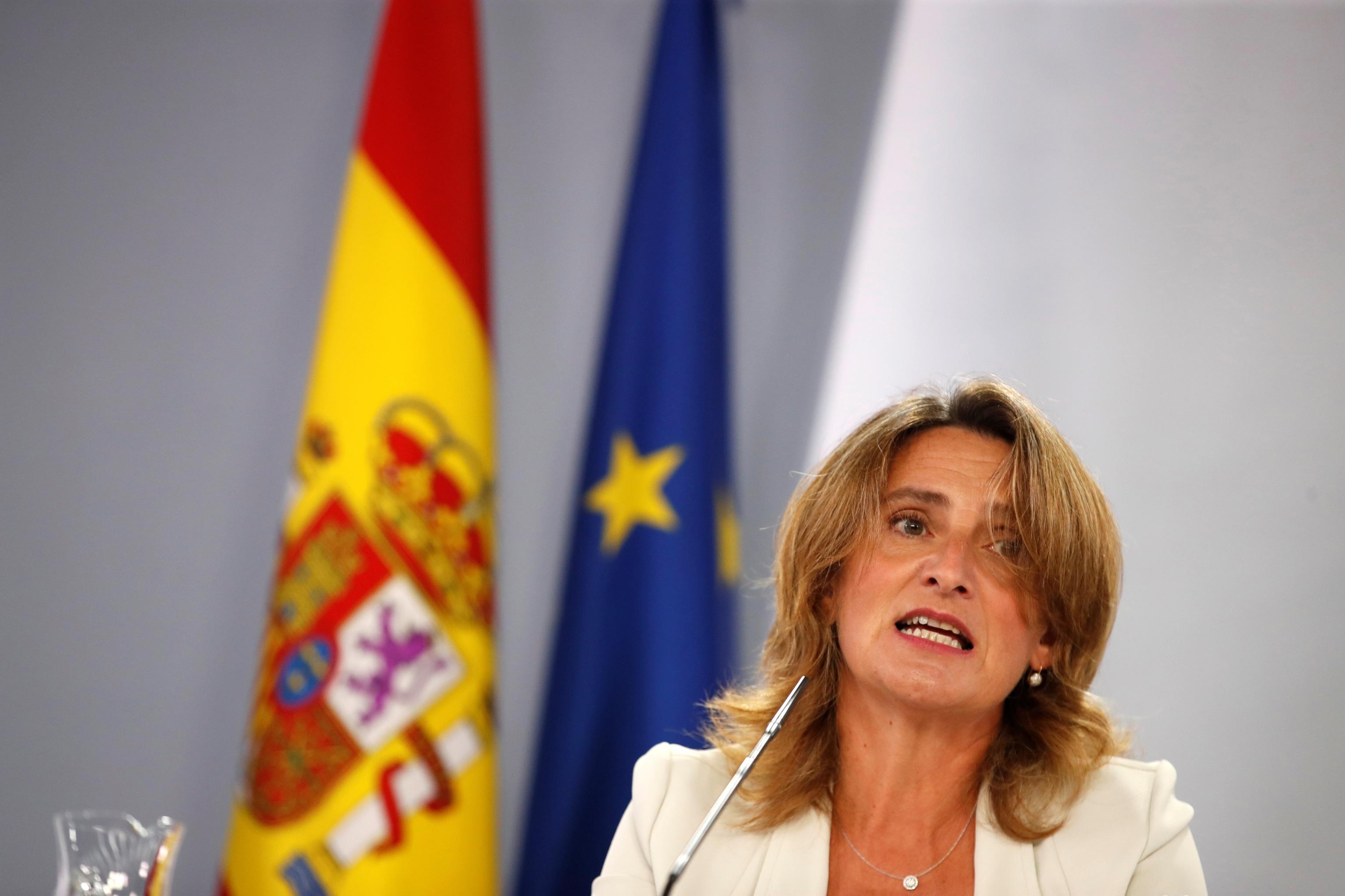 Teresa Ribera durante la rueda de prensa tras la reunión del Consejo de Ministros.