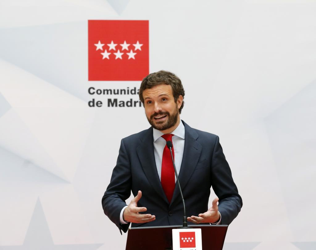 Pablo Casado, presidente del PP, en una imagen de archivo.