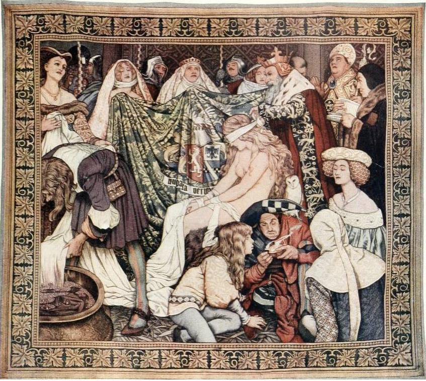 La Verdad con los ojos vendados, por Byam Shaw (1909)