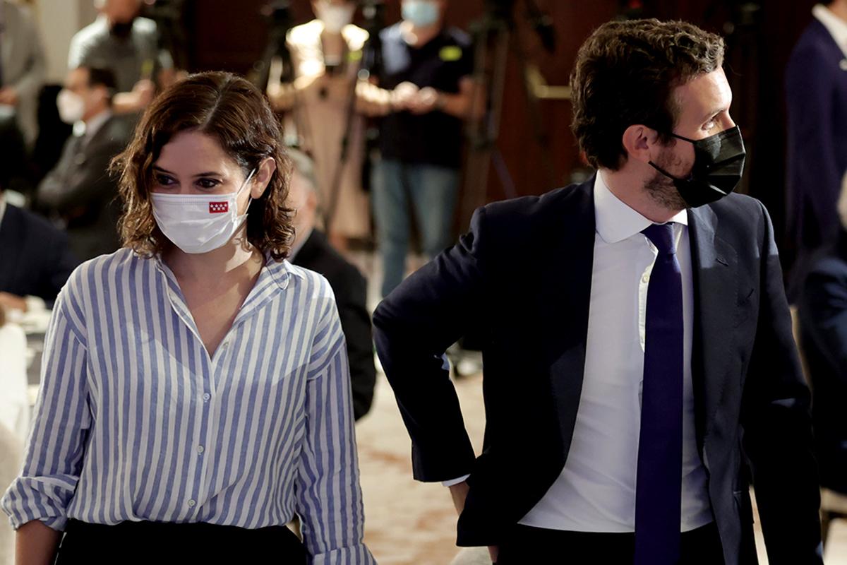 Isabel Díaz Ayuso y Pablo Casado, juntos la semana pasada en Madrid.