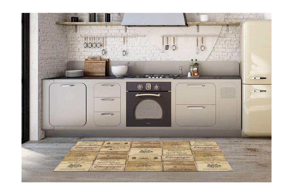 Las cocinas son un buen lugar para poner alfombras vinílicas.