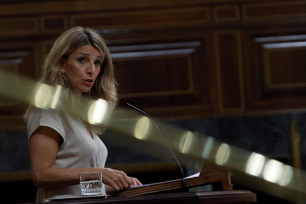 La vicepresidenta Yolanda Díaz.