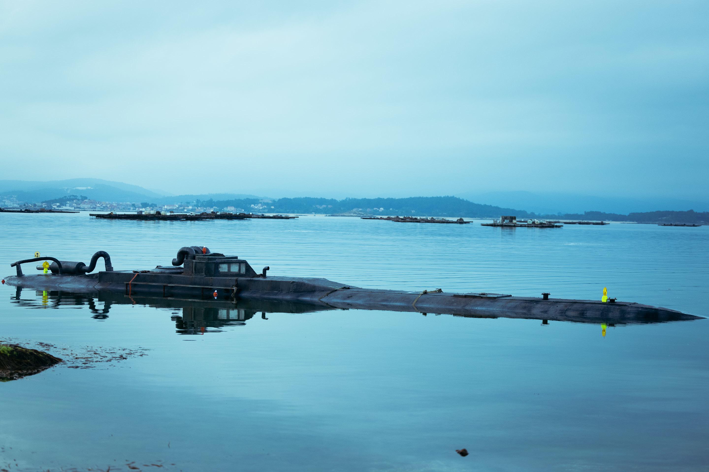El submarino de 20 metros de eslora donde se rodaron diferentes escenas de la serie