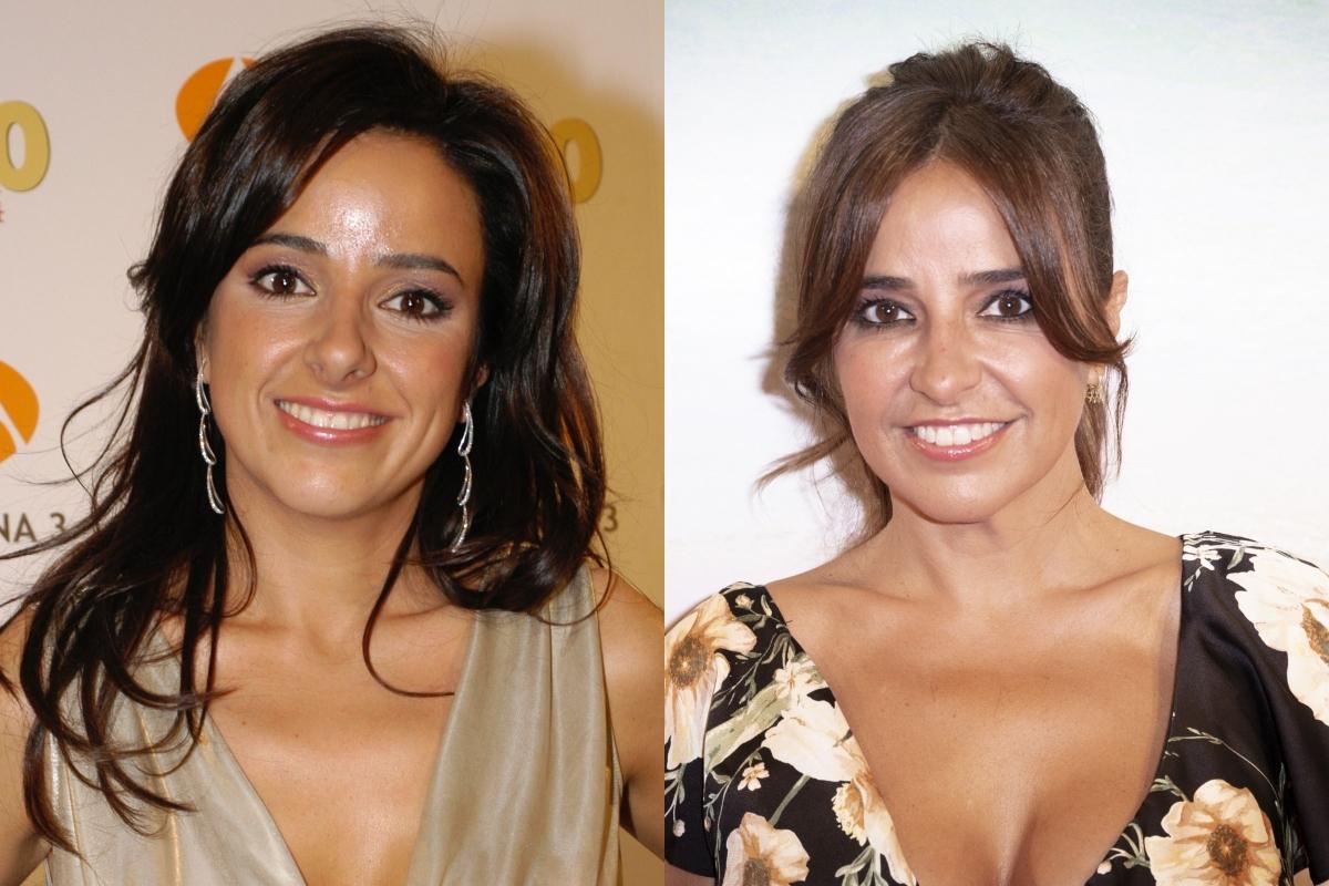 Carmen Alcayde, antes (2005) y después (2021).