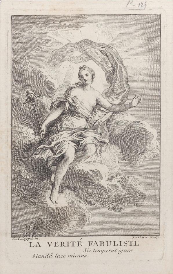 La verdad basada en hechos reales, por Laurent Cars (1699-1771) y Charles Antoine Coypel (1694-1752)