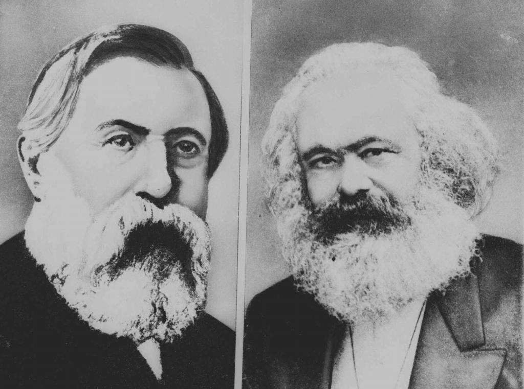Frederick Engels y Karl Marx, autores del 'Manifiesto comunista'.