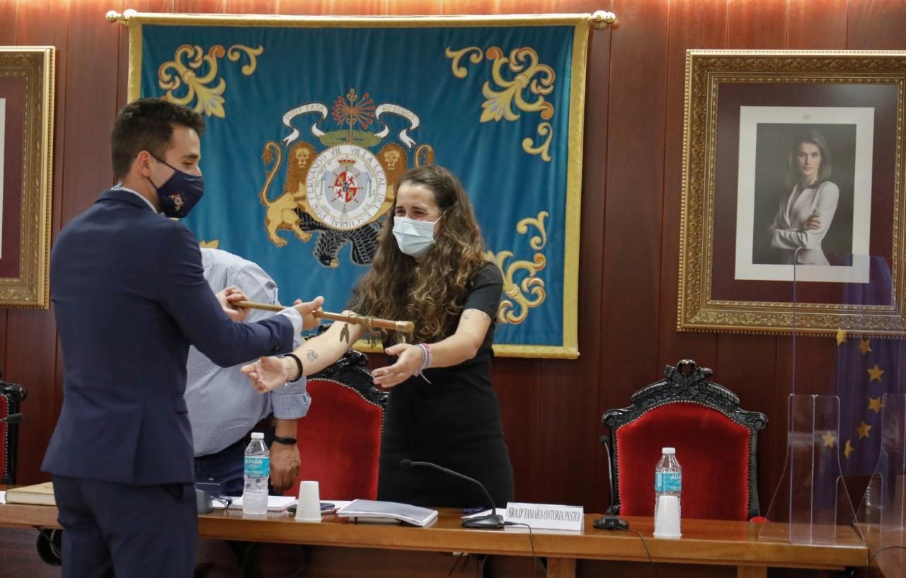 Cristian Martín, nuevo alcalde de El Escorial, durante su toma de posesión.