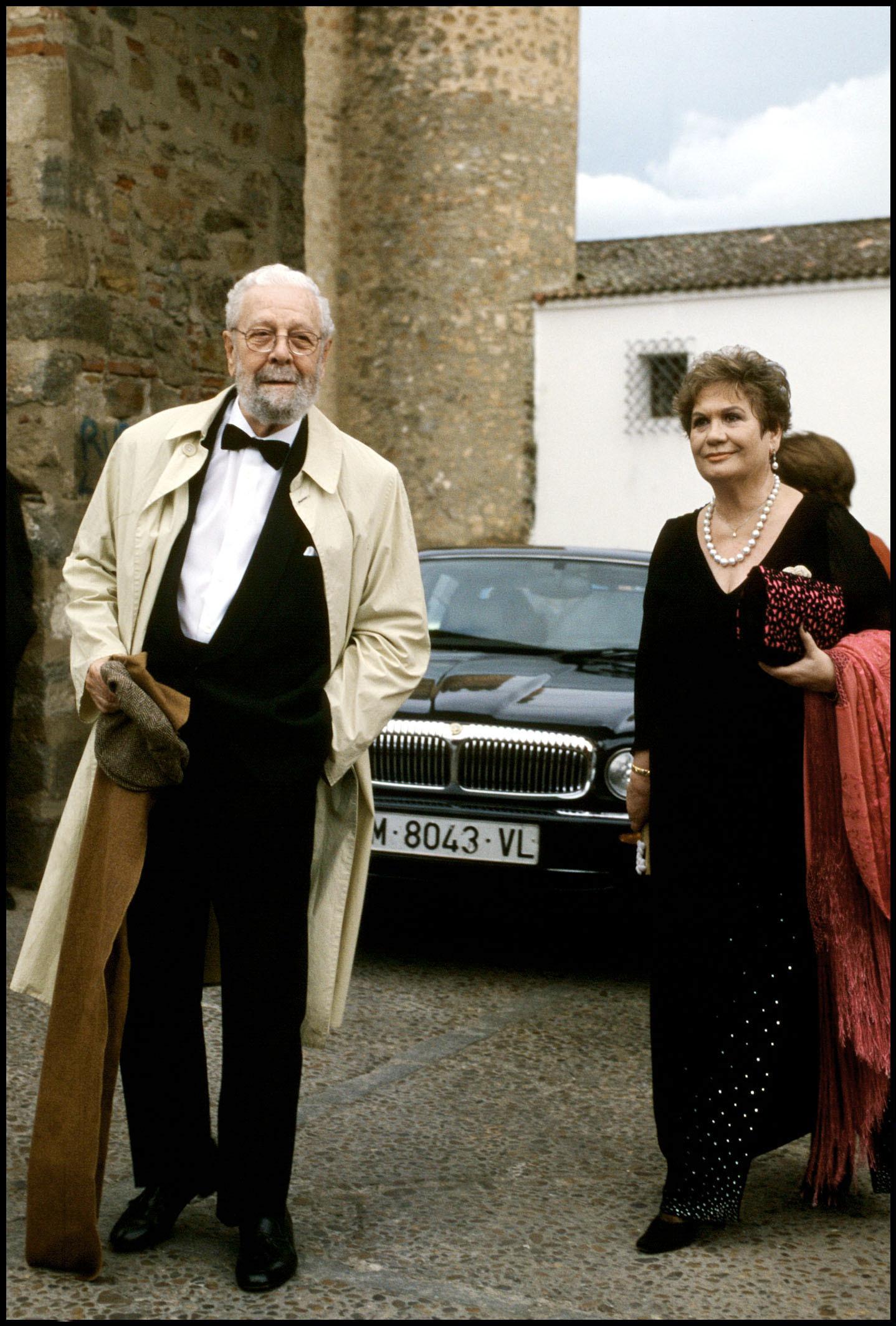 Luis García Berlanga y su mujer, María Jesús Manrique.